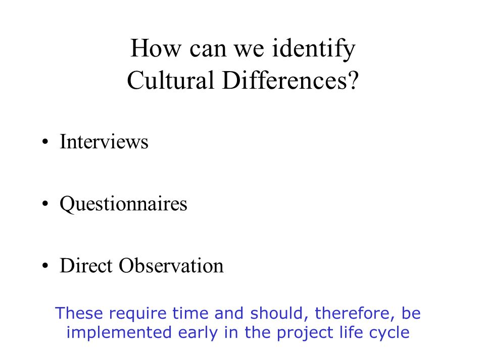 how can we identify cultural differences - International Job Interviewing What Are The Cultural Differences
