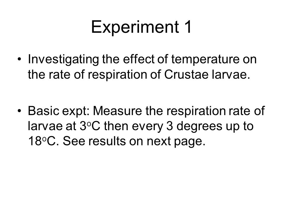 Effects of Temperature on Cell Respiration. (B4-1)