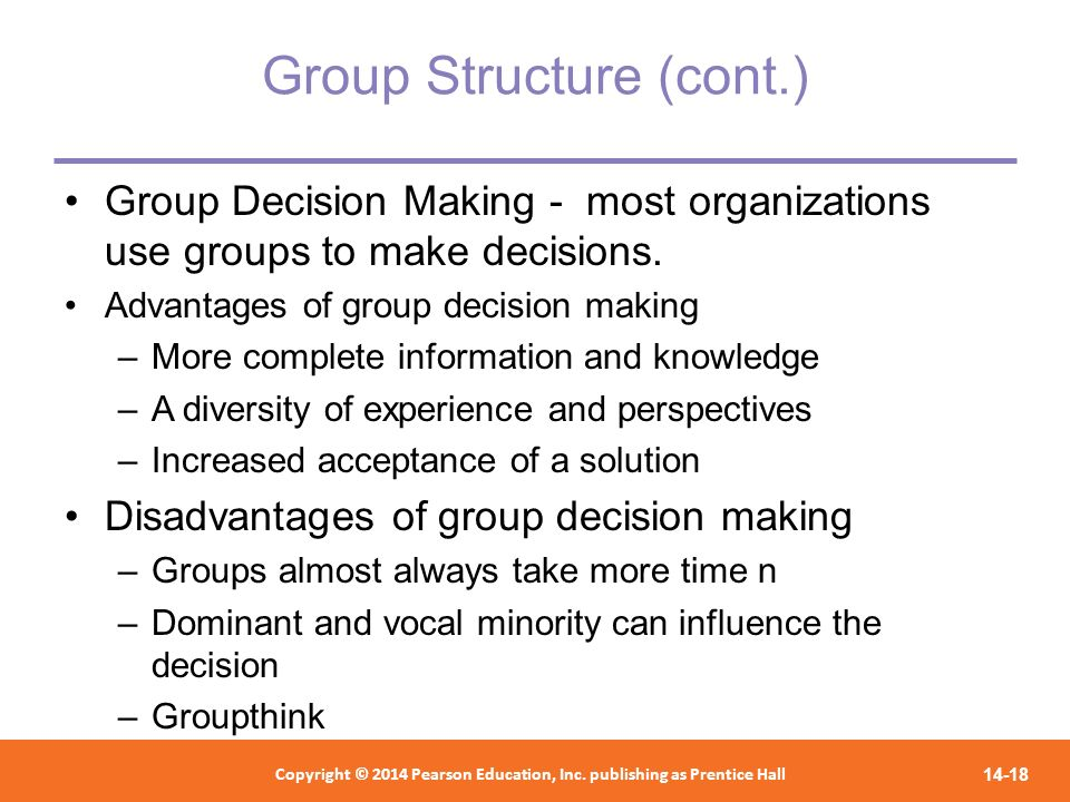Group Structure (cont.)
