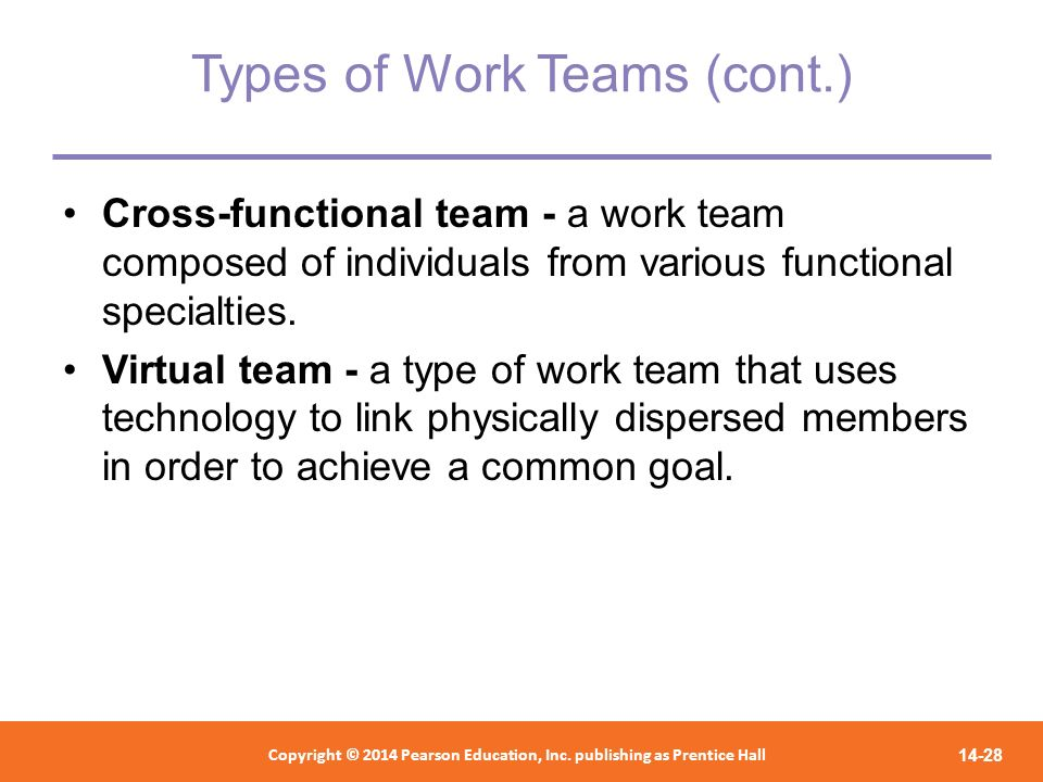 Types of Work Teams (cont.)