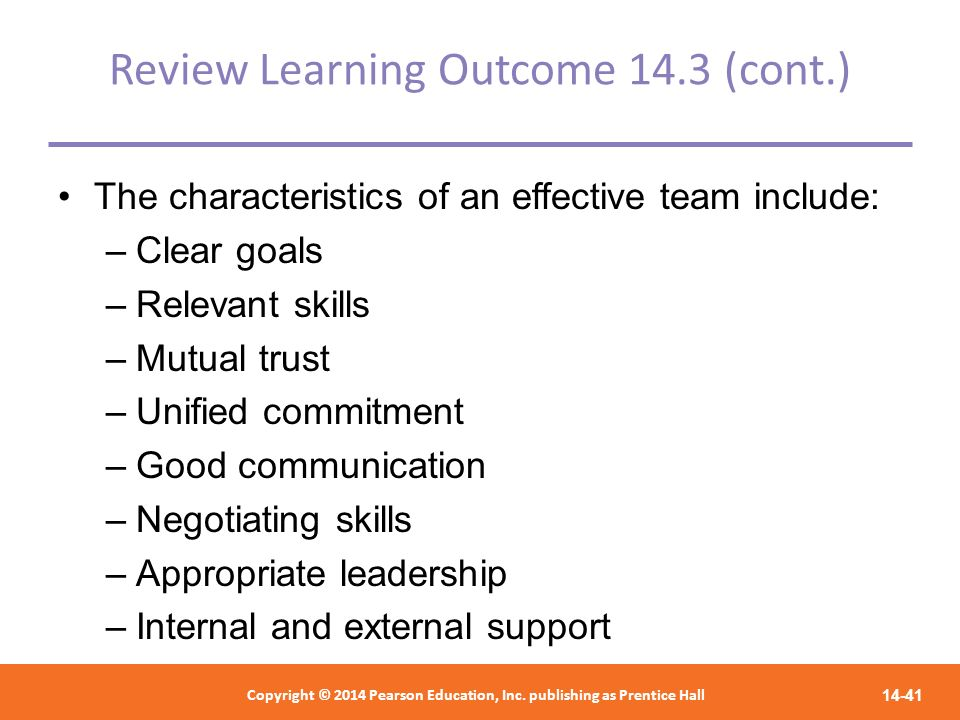 Review Learning Outcome 14.3 (cont.)