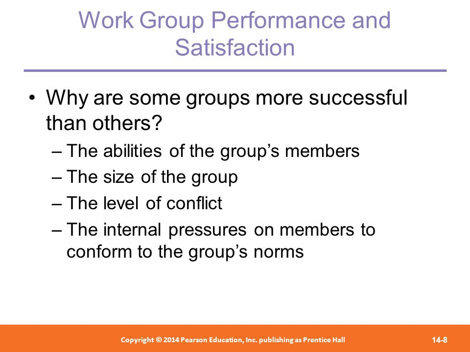 Work Group Performance and Satisfaction