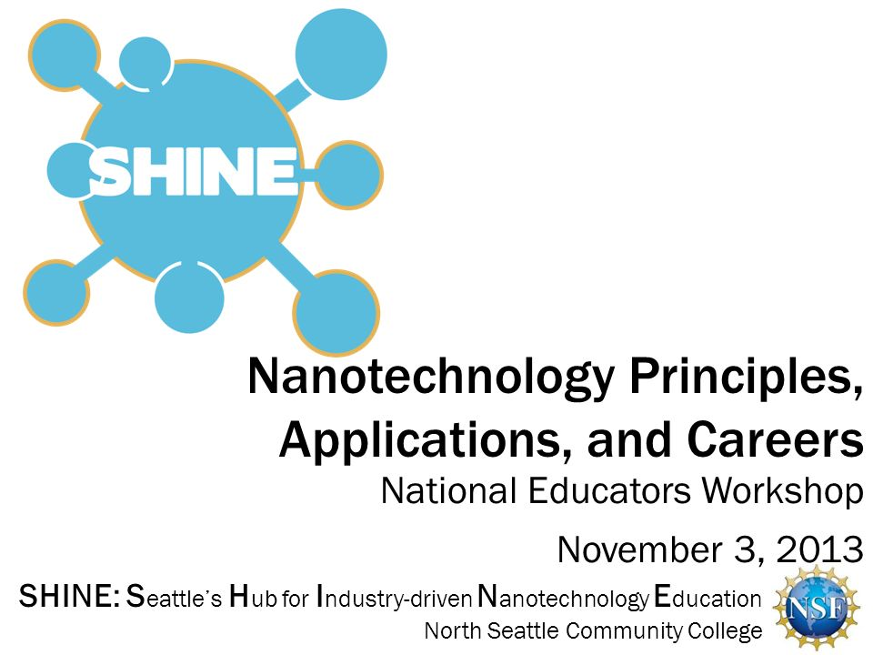 Nanotechnology Principles, Applications, and Careers