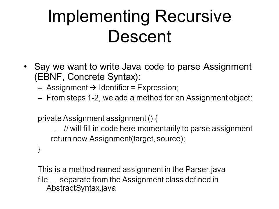 Writing a Recursive Descent Parser using C# and LINQ