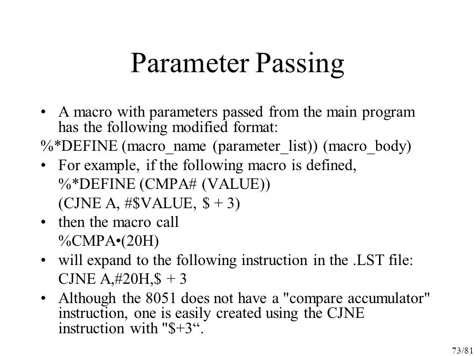 assembly language instructions list