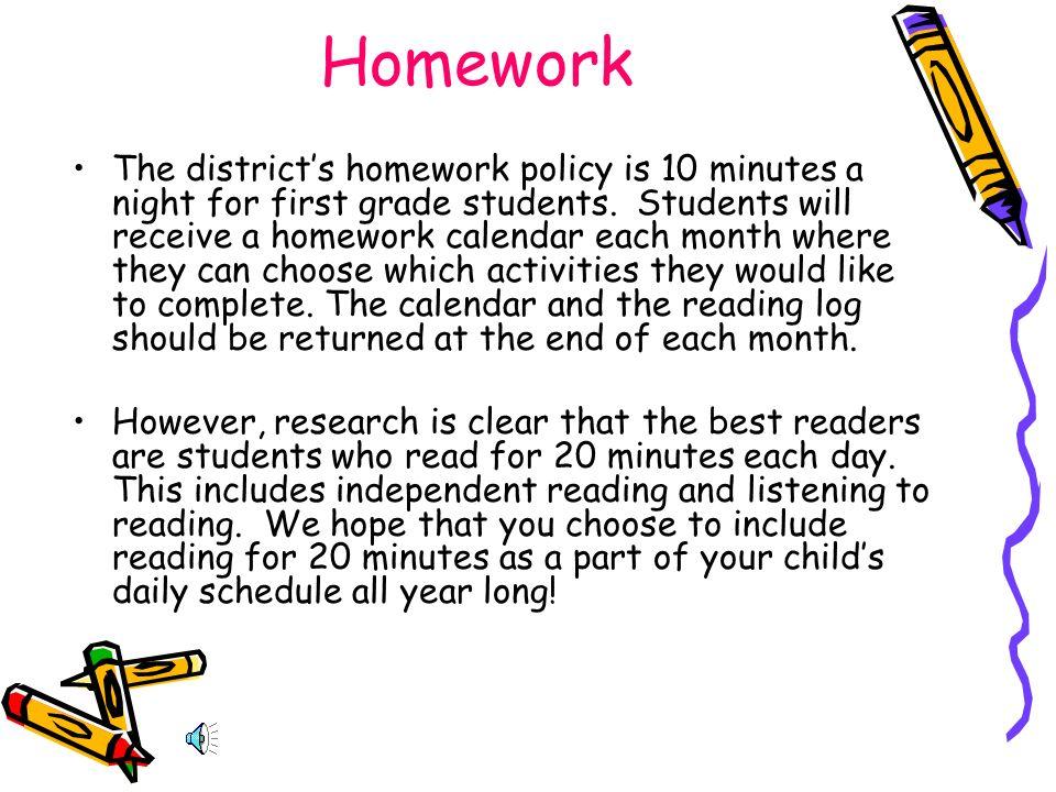 first grade reading log