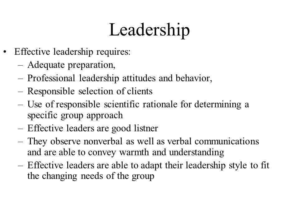 understanding behaviors for effective leadership pdf