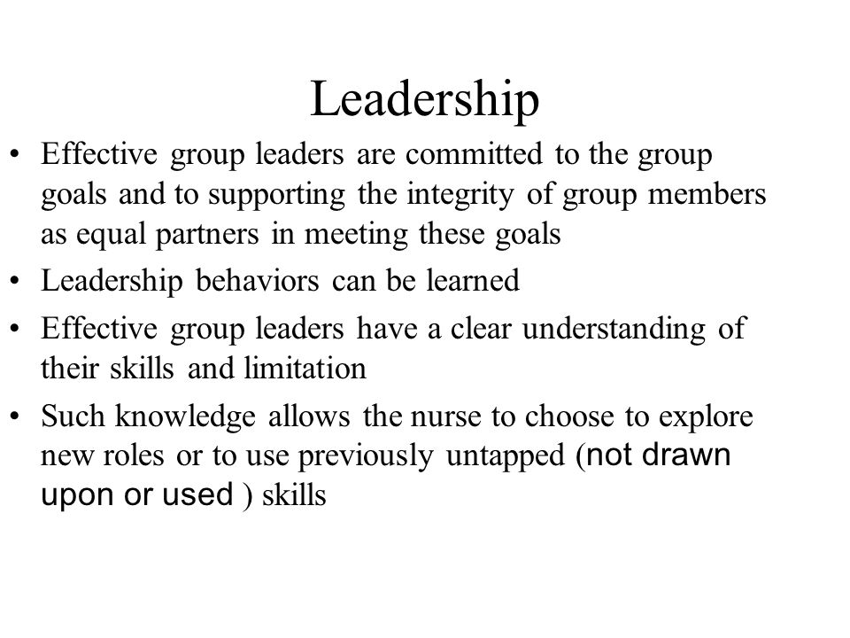Leadership Skills and Strategies for Group Counseling