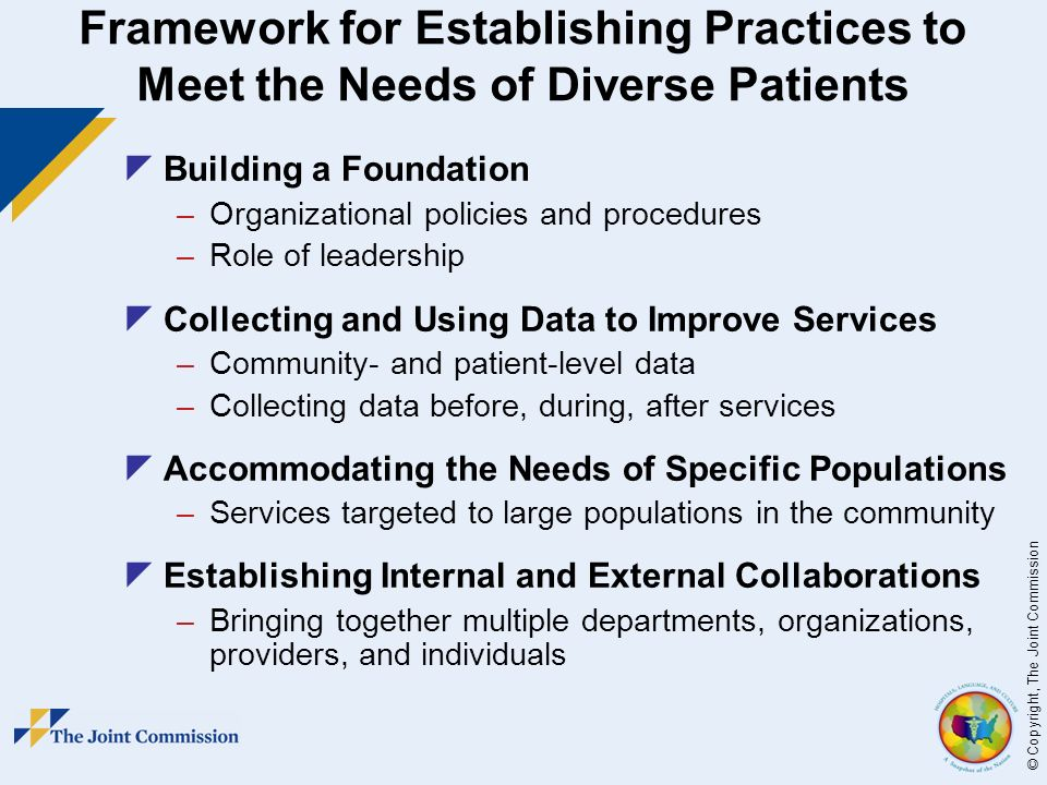 diversity data meeting the needs of Theme 2: collecting and using data to improve services the collection and use of community- and patient-level data is essential to developing and improv- ing services in health care, including services developed to meet the needs of diverse patient populations instituting practices to systematically collect data allows.