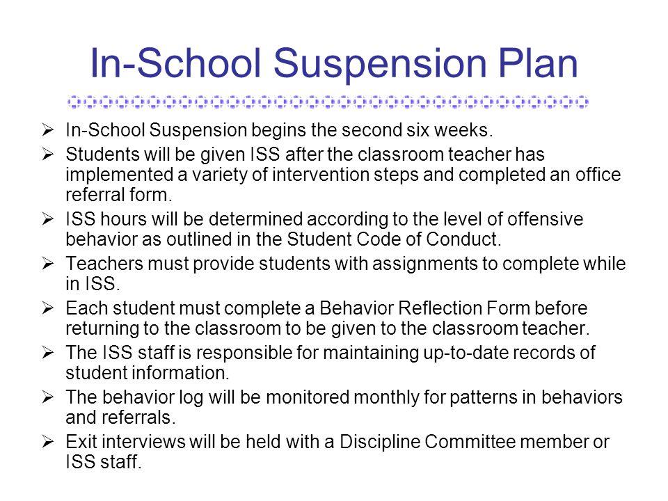 In School Suspension Forms Alcy Elementary School...