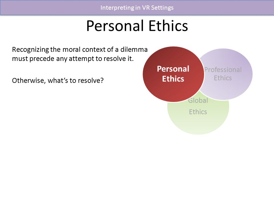 what personal and professional values are connected to this dilemma Personal values and ethical standards paper each person has different personal values and developed ethical standards my personal values and ethics have shaped my life to be what it is today.