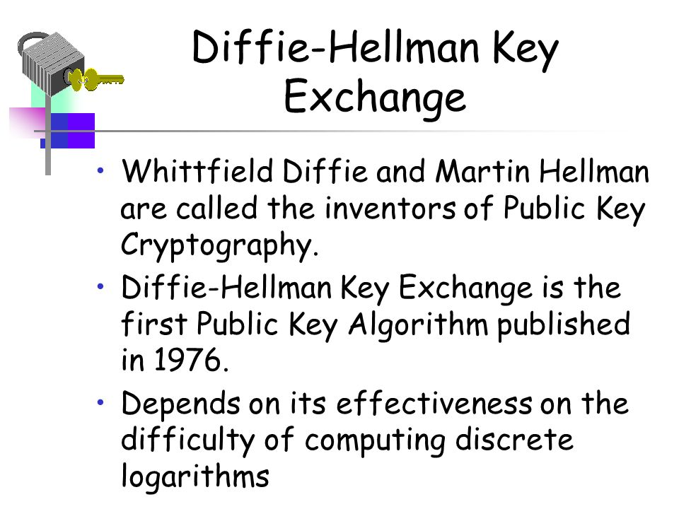 Key exchange in public key cryptography software