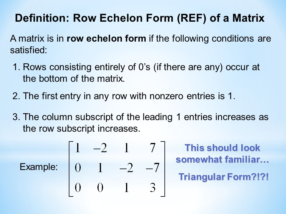 Reduced Row Echelon Form - ppt video online download