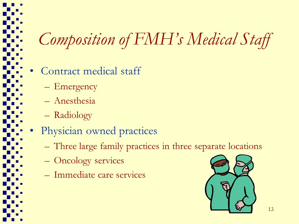 Composition of FMH's Medical Staff