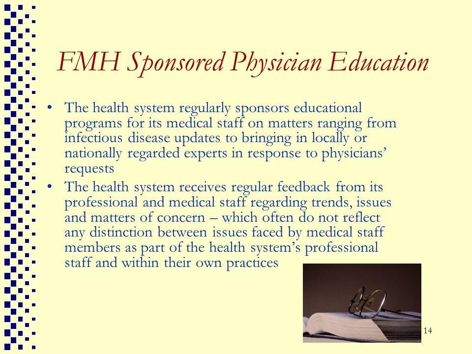 FMH Sponsored Physician Education