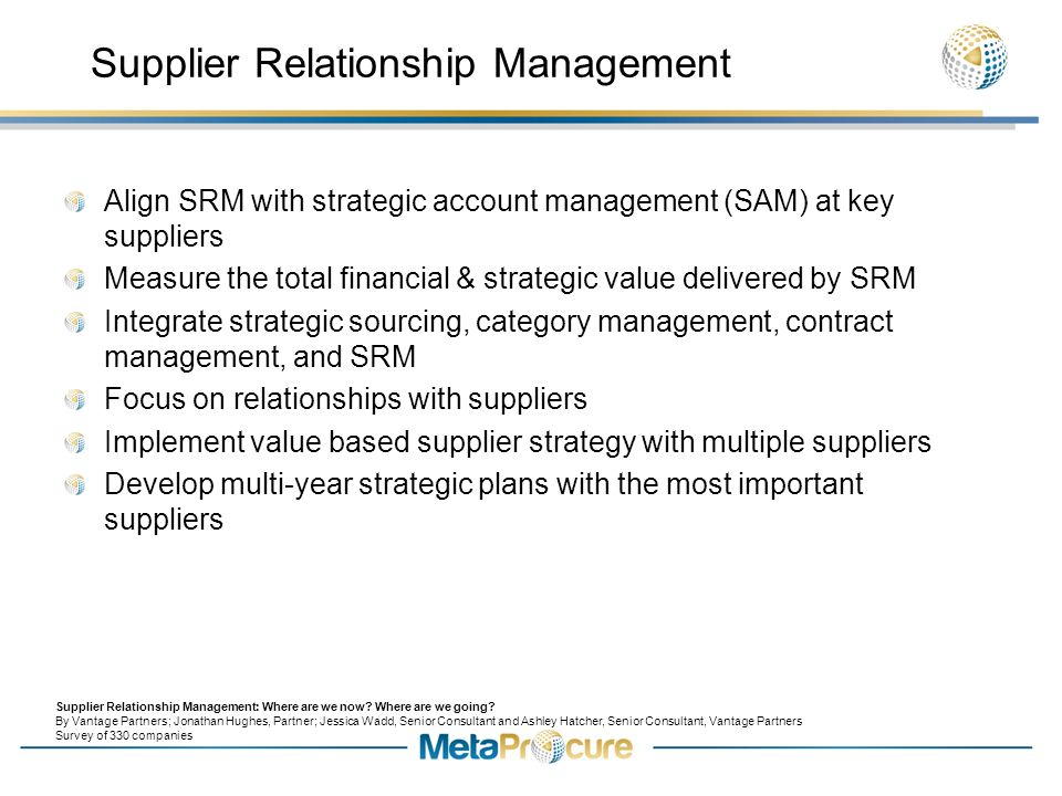 historical lessons in purchasing and supplier relationship management
