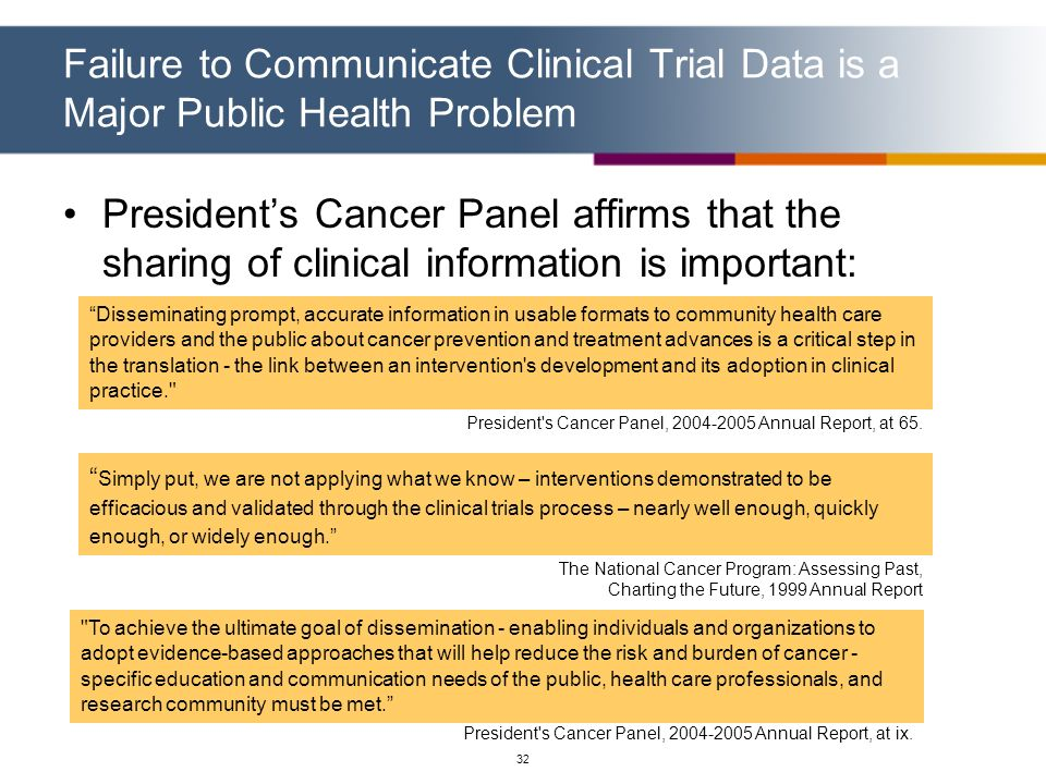 Failure to Communicate Clinical Trial Data is a Major Public Health Problem
