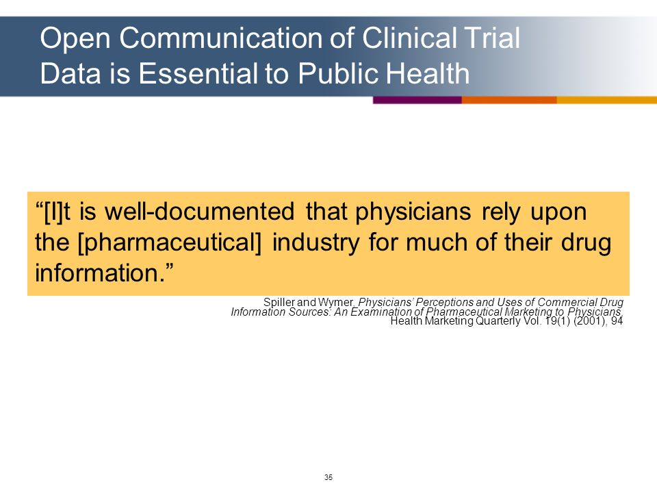 Open Communication of Clinical Trial Data is Essential to Public Health