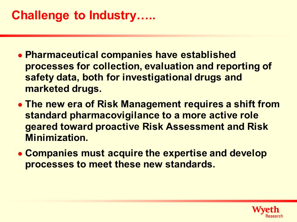 Challenge to Industry…..