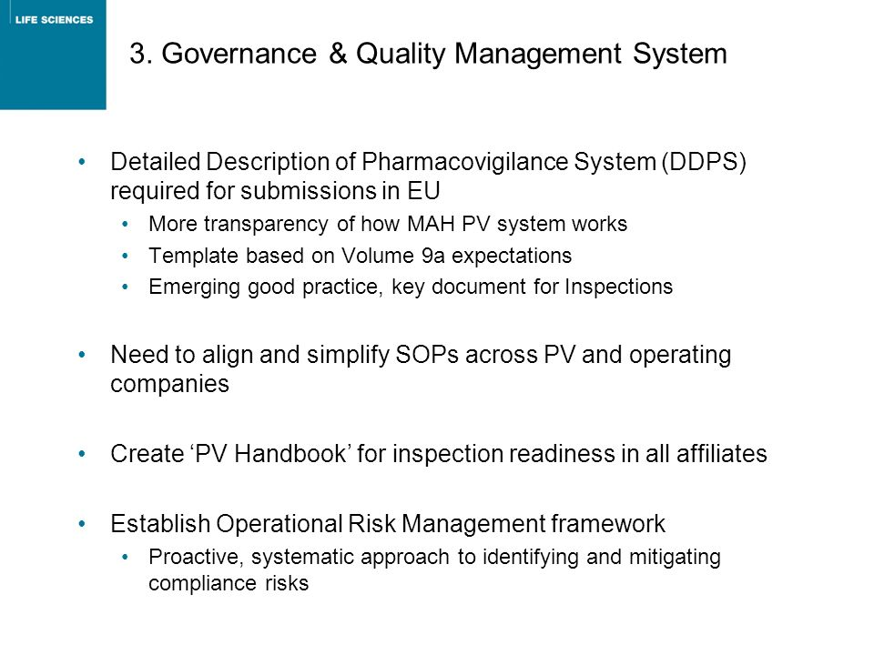 3. Governance & Quality Management System