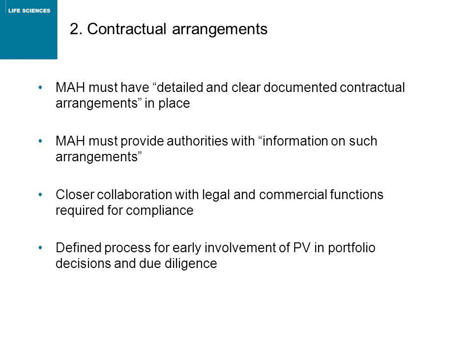 2. Contractual arrangements