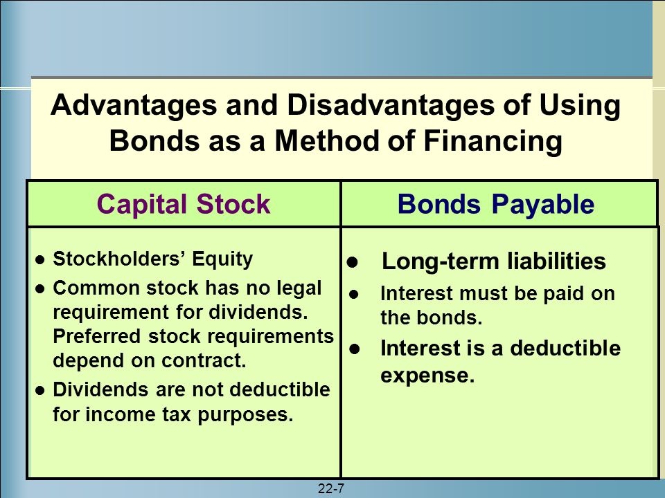 Common Stock - Advantages and Disadvantages