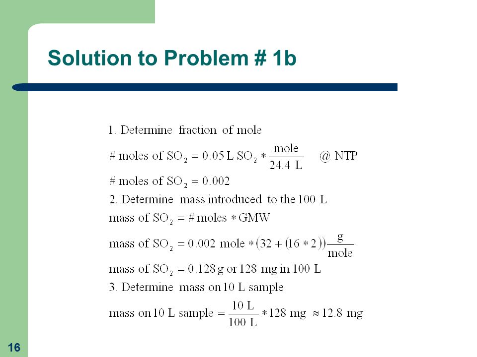 Solution to Problem # 1b