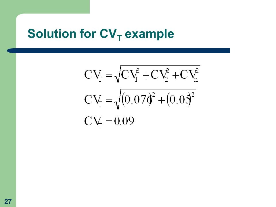 Solution for CVT example