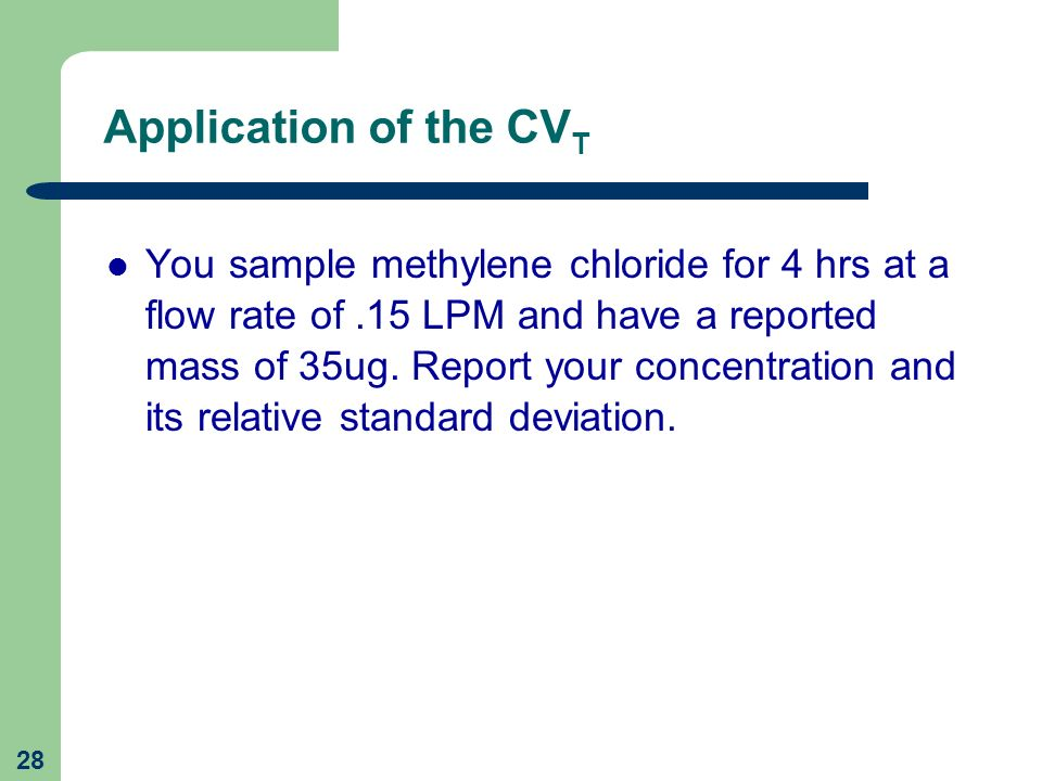 Application of the CVT