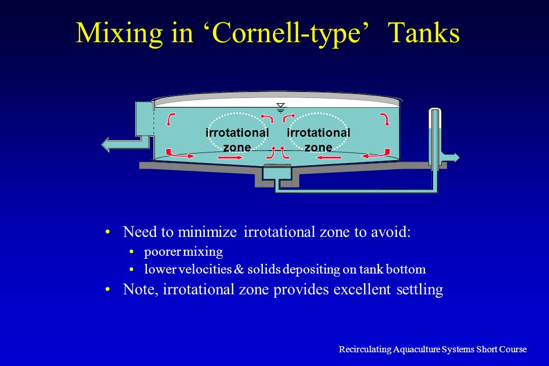 Mixing in 'Cornell-type' Tanks