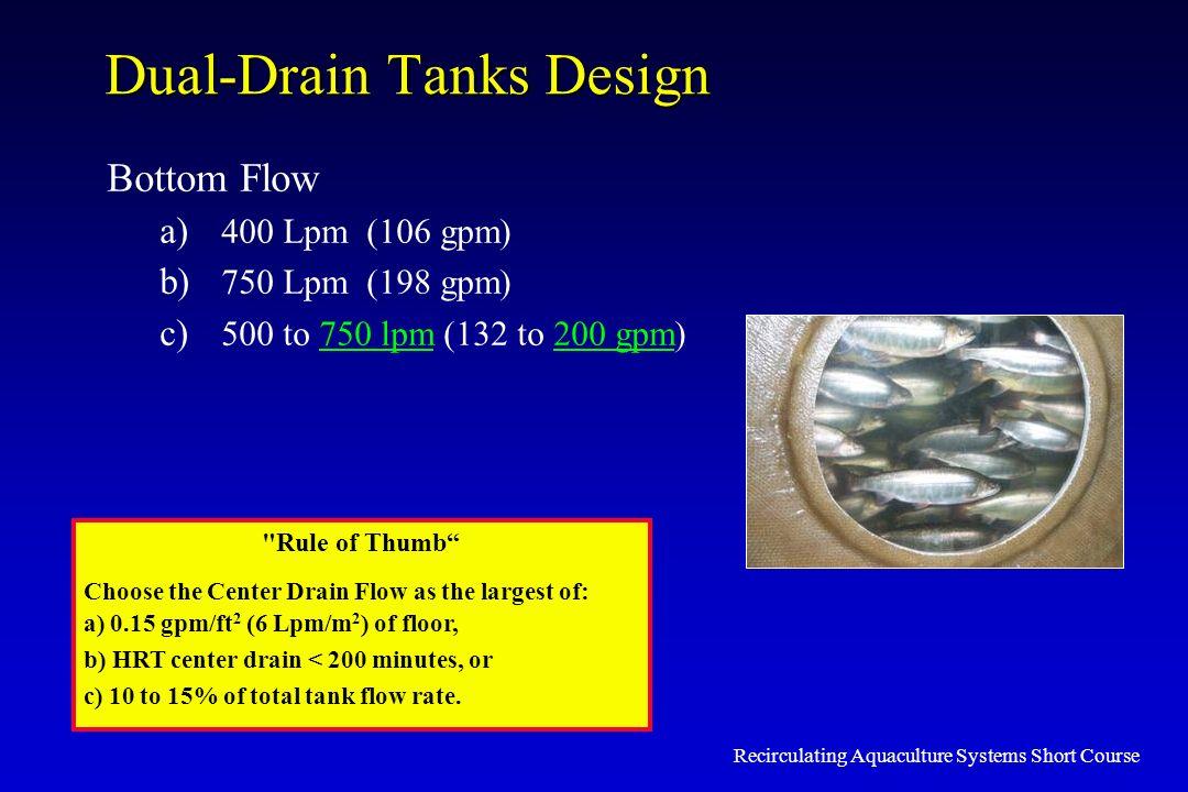 Dual-Drain Tanks Design