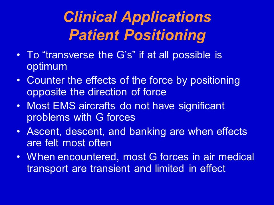 Clinical Applications Patient Positioning