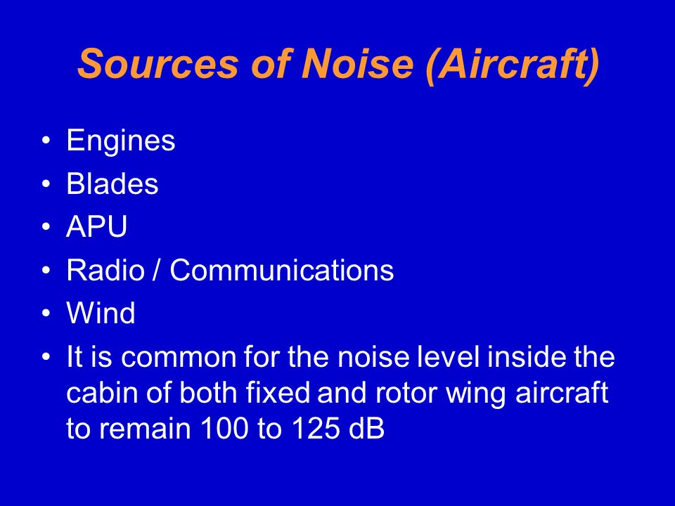 Sources of Noise (Aircraft)