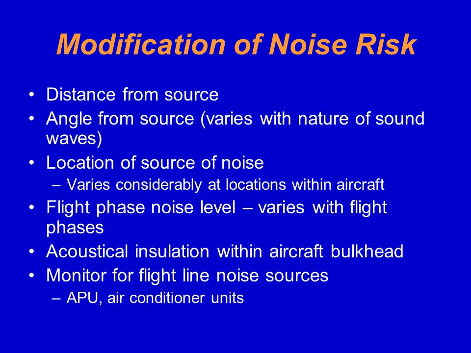 Modification of Noise Risk