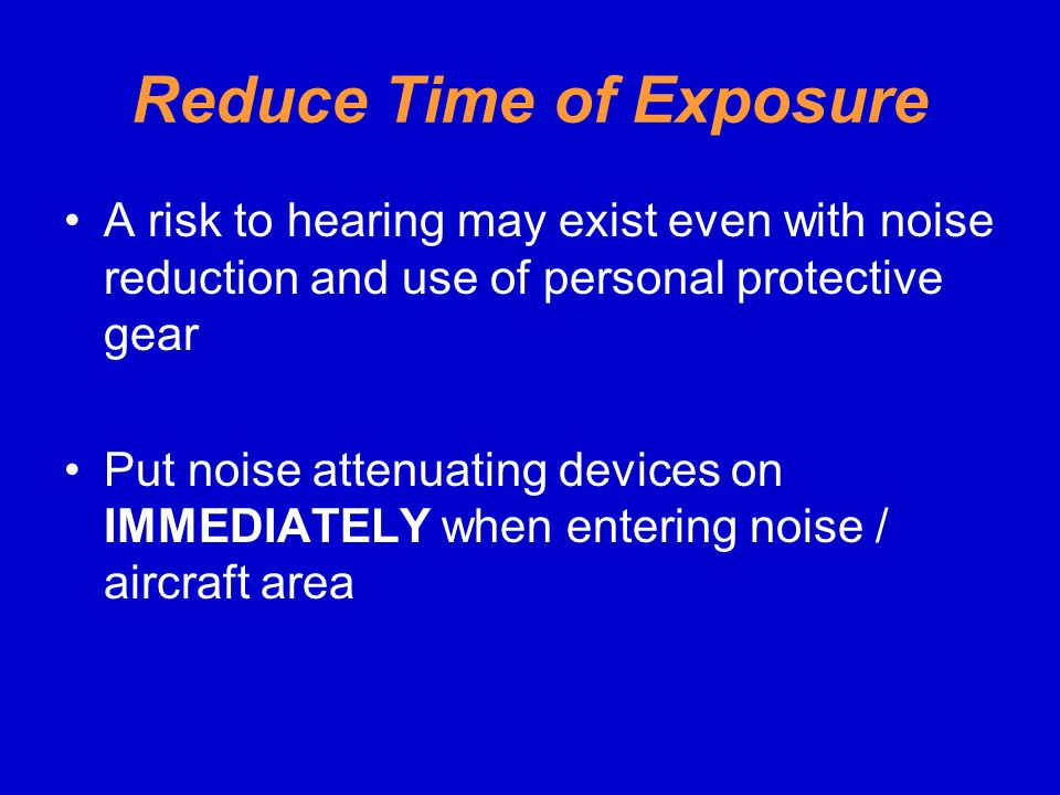 Reduce Time of Exposure