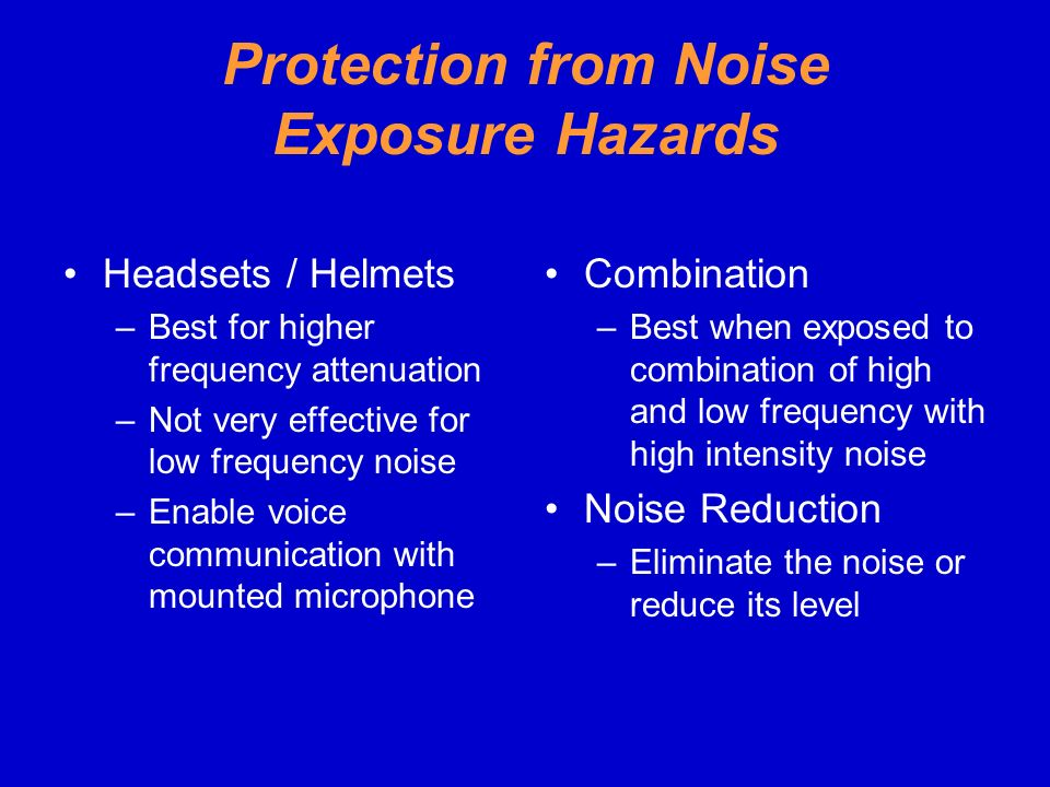 Protection from Noise Exposure Hazards