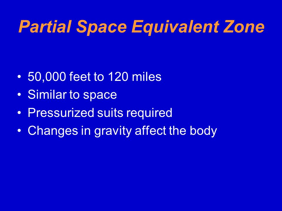 Partial Space Equivalent Zone