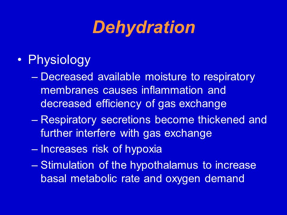 Dehydration Physiology