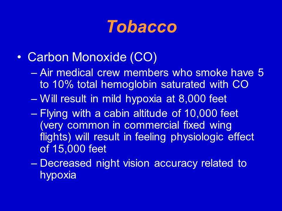 Tobacco Carbon Monoxide (CO)