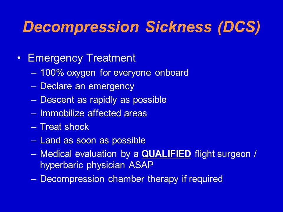 Decompression Sickness (DCS)