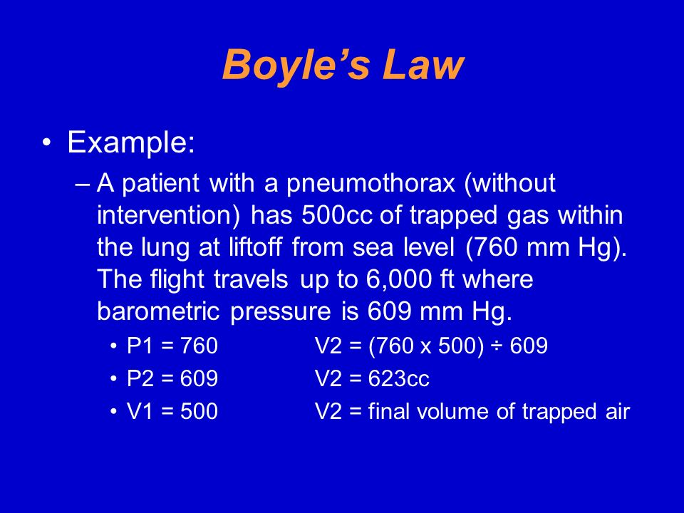 Boyle's Law Example: