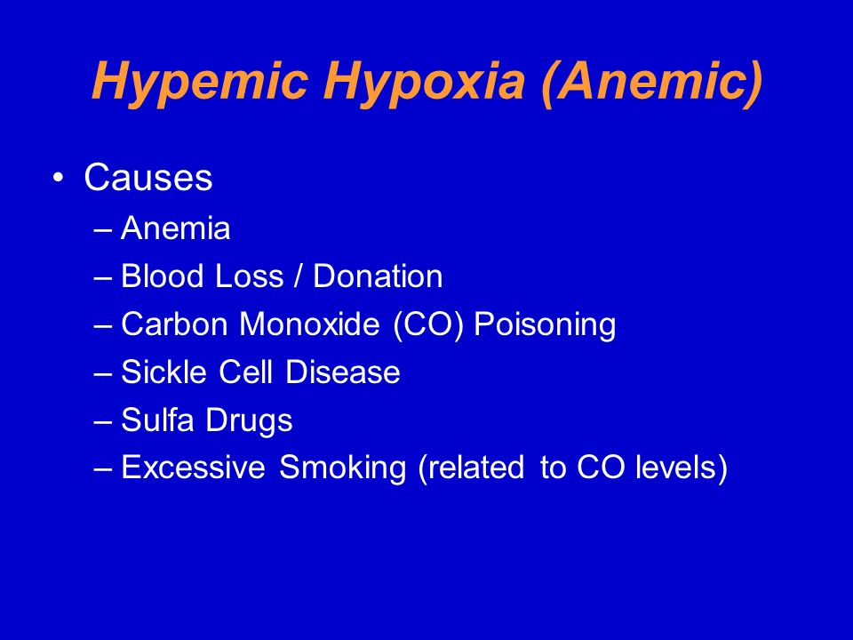 Hypemic Hypoxia (Anemic)