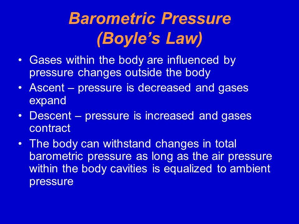 Barometric Pressure (Boyle's Law)