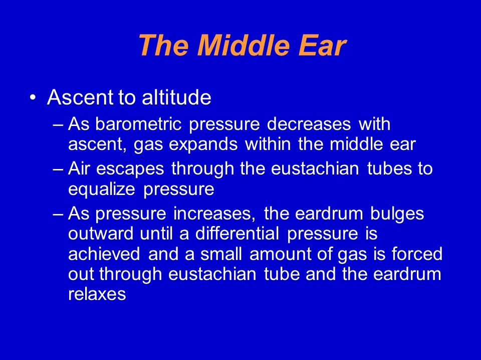 The Middle Ear Ascent to altitude
