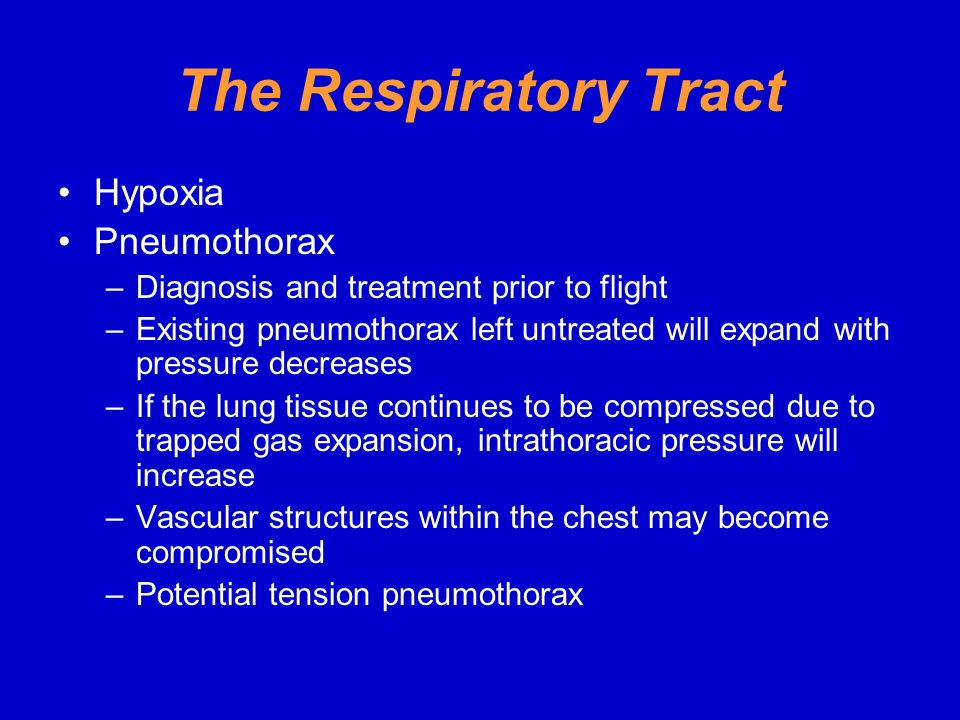 The Respiratory Tract Hypoxia Pneumothorax