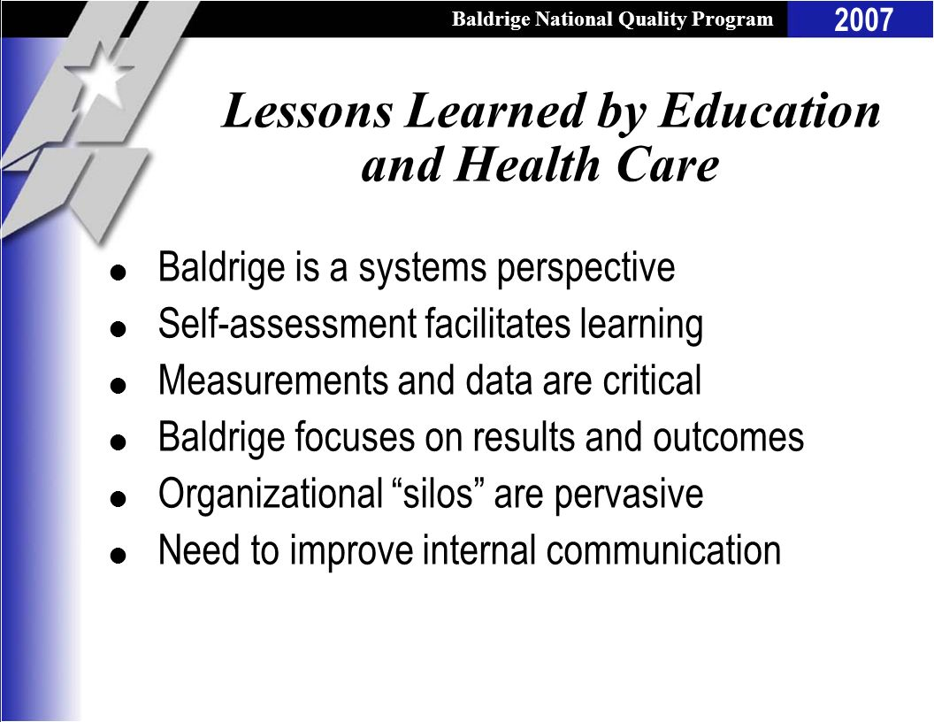 Lessons Learned by Education and Health Care