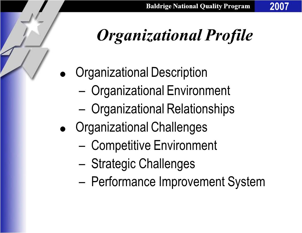 Organizational Profile