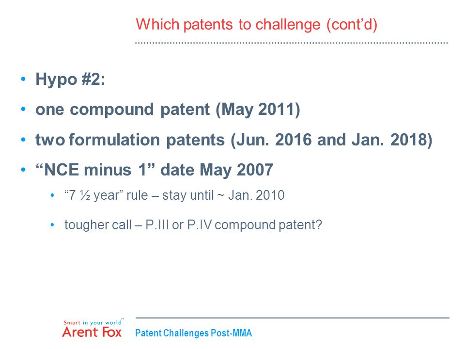 Which patents to challenge (cont'd)