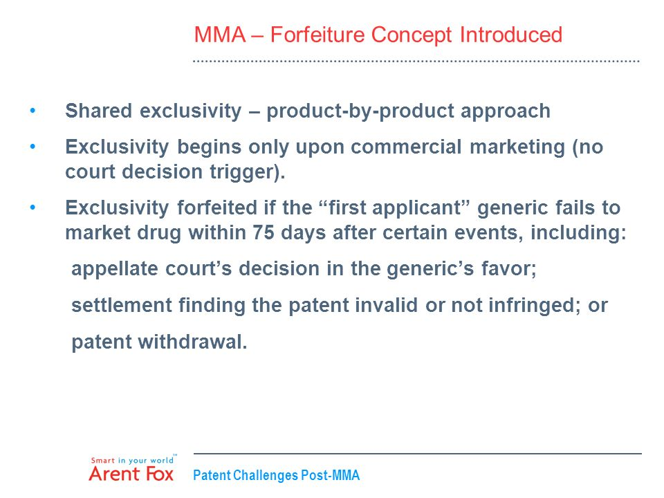MMA – Forfeiture Concept Introduced