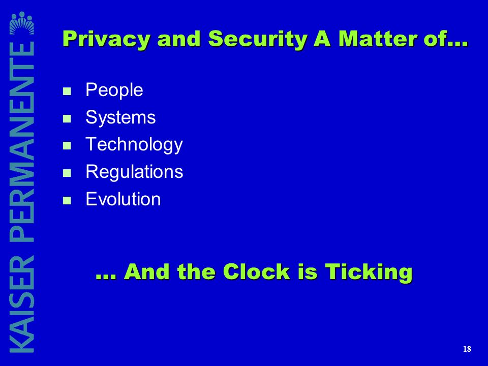 Privacy and Security A Matter of…